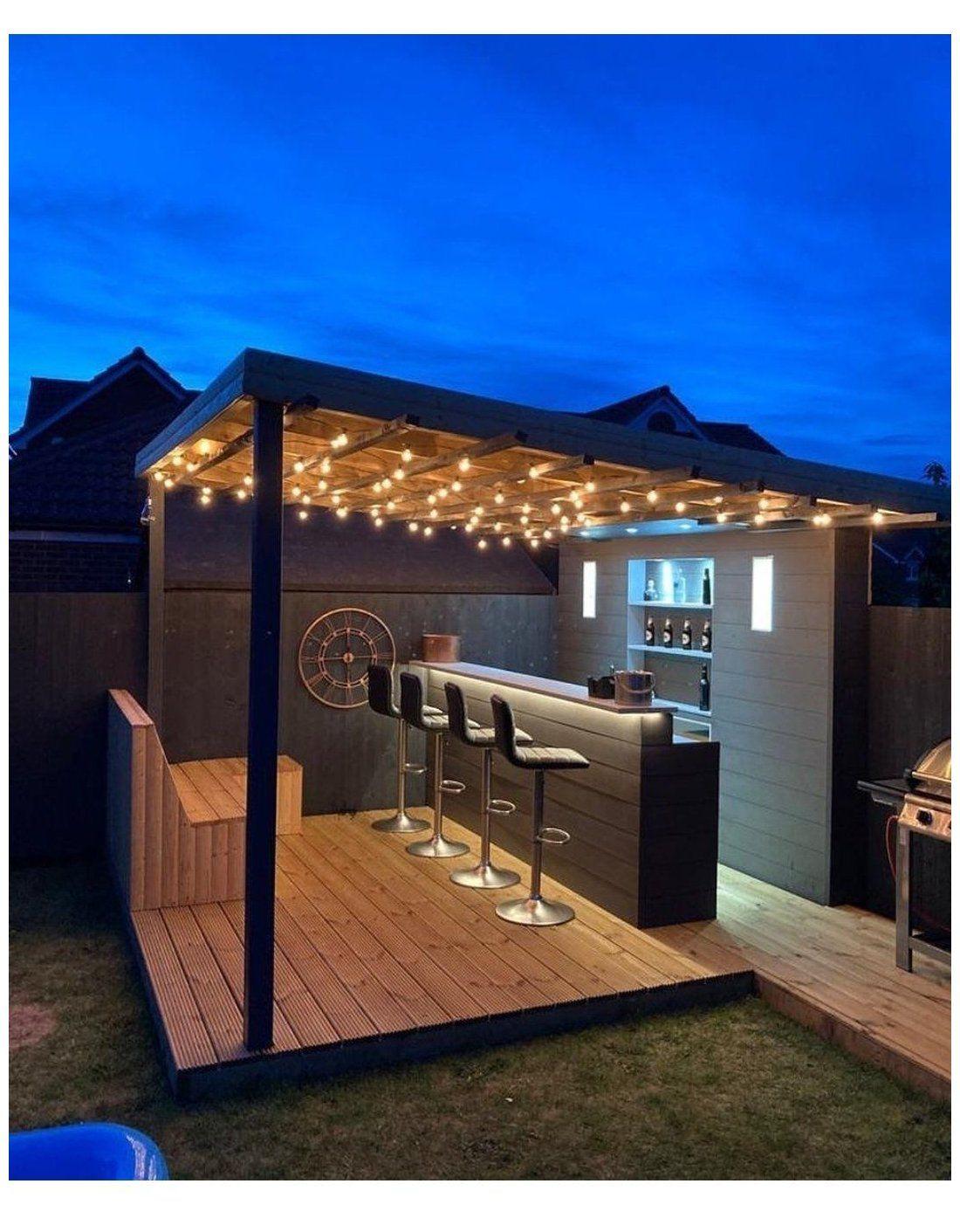 19 Backyard Bars For The Perfect Happy Hour At Home Build Beautiful Luxurious Backyard Backyard Bar Backyard Patio Designs