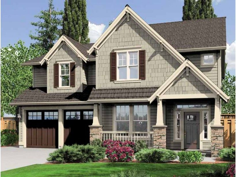 Craftsman house plan with 2470 square feet and 4 bedrooms for 4 bedroom craftsman house plans