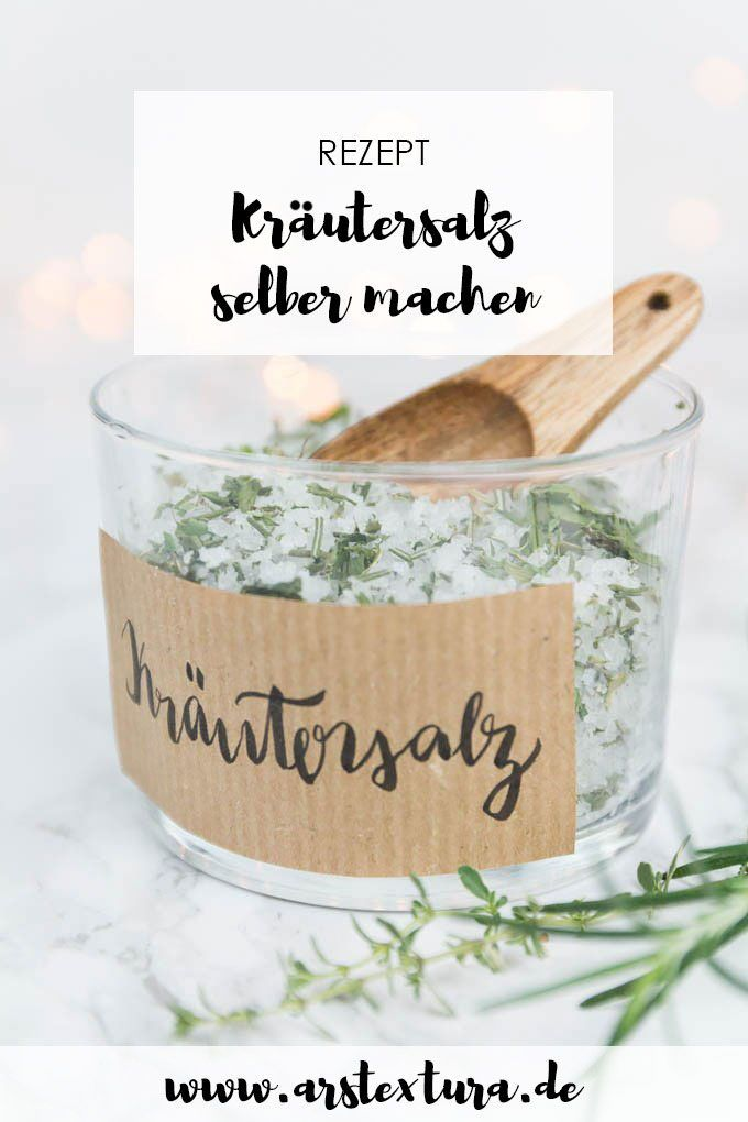 Photo of DIY herb salt yourself ars textura – DIY blog