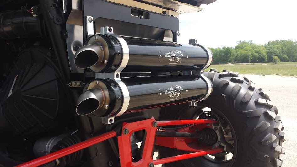 polaris rzr xp 1000 full dual exhaust