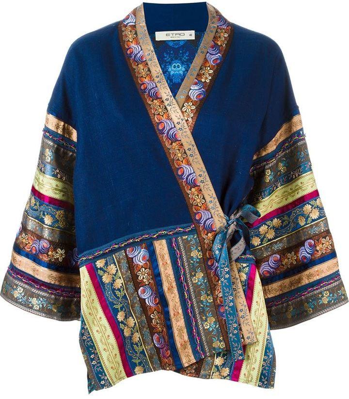 Etro kimono-style printed jacket Outlet Big Discount Clearance New Styles sCo0i
