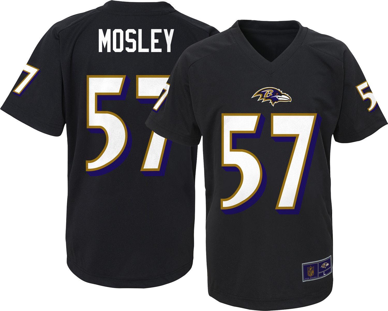 Team Apparel Youth Baltimore C.J. Mosley 57 Black TShirt