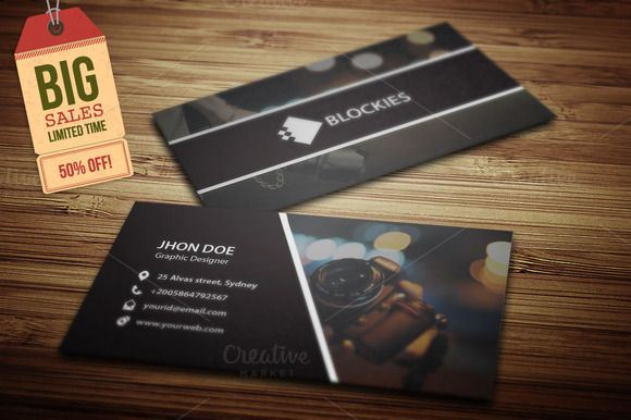 Photography Business Card V 2 Photography Business Cards Business Cards Creative Templates Business Cards Creative