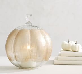 Frosted Glass Pumpkin With Images Glass Pumpkins