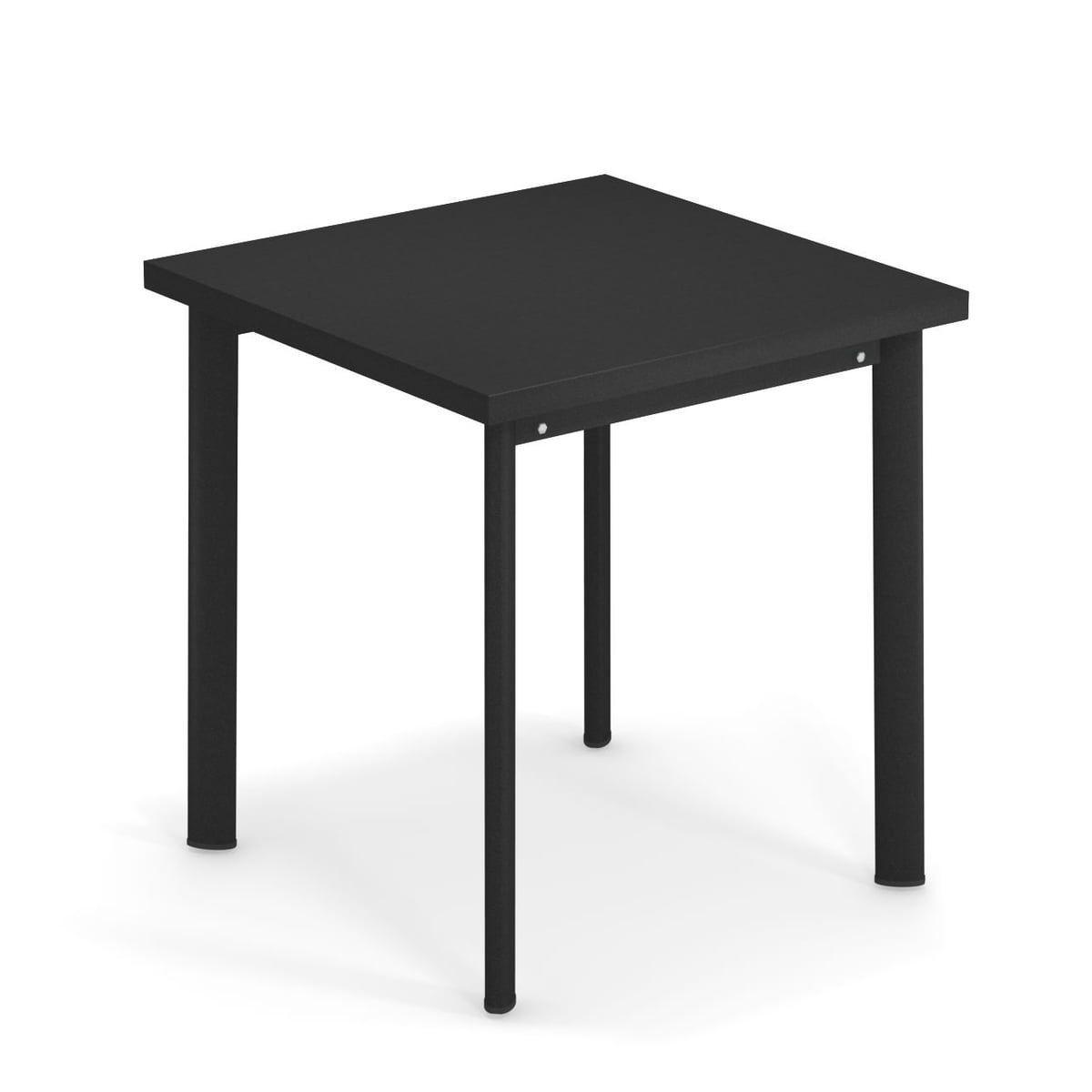 Emu Star Tisch H 75 Cm 70 X 70 Cm Schwarz In 2020 Gartentisch Emu Tisch