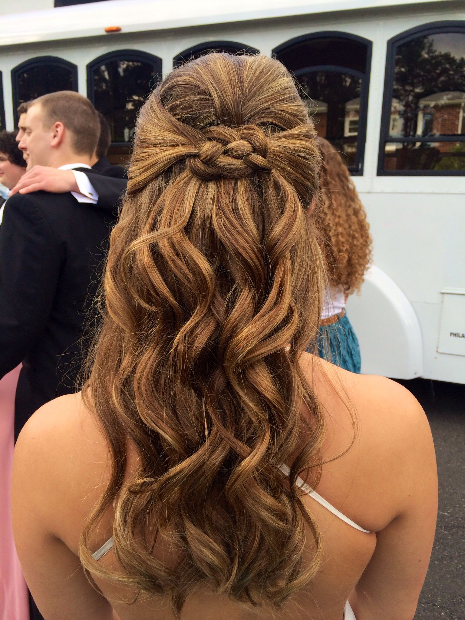 Curly Prom Half Uphalf Down Hair This Is Me Hair