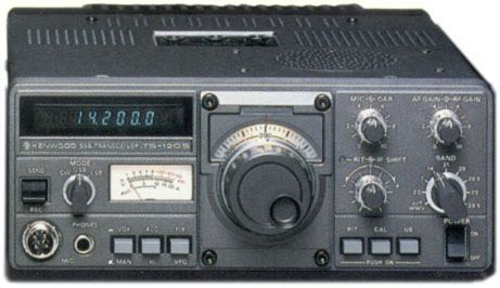 Kenwood TS-120S - Good beginner HF radio from 1978  Solid state, LED