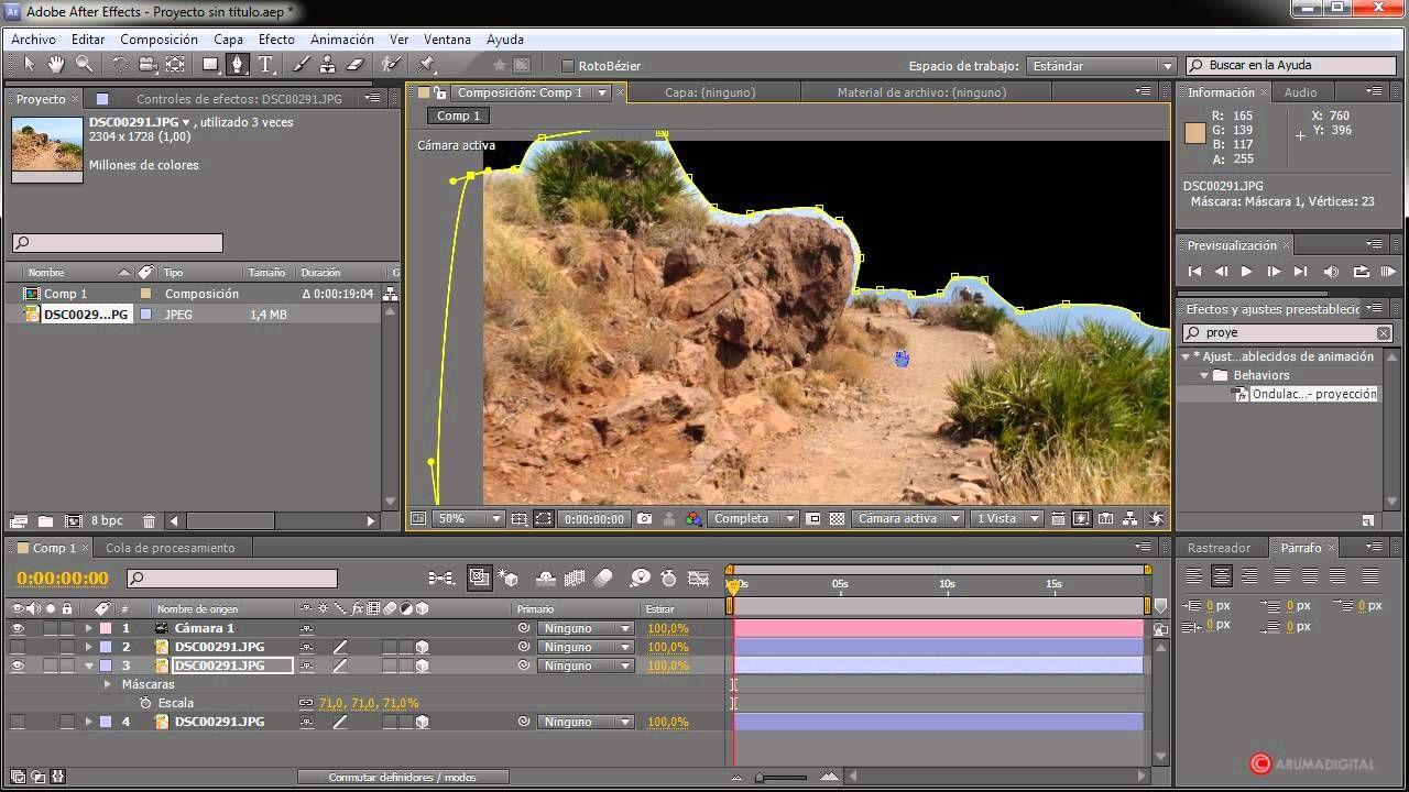 After Effects 038 Imagen Estatica Con Profundidad Estudio Ales