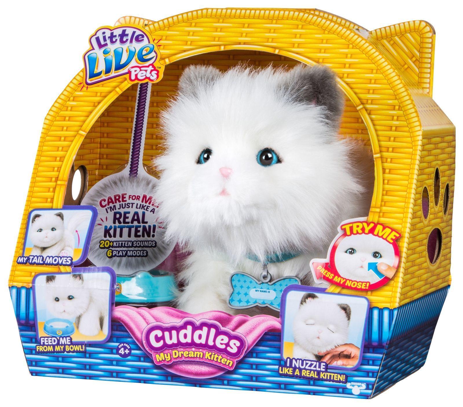 New Cuddles My Dream Kitten Little Live Pet Cat Interactive Motion Adoption Purr Ebay Little Live Pets Pets Cuddling Kitten Plush Toy