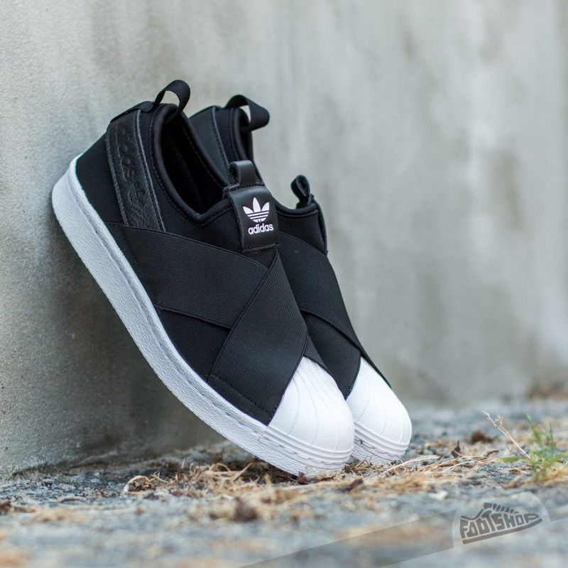 detailed look 8c603 490ea adidas Superstar Slip On W Black Ftw White EUR 44
