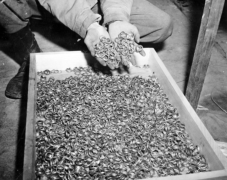 Wedding rings taken from Jews who were to be exterminated