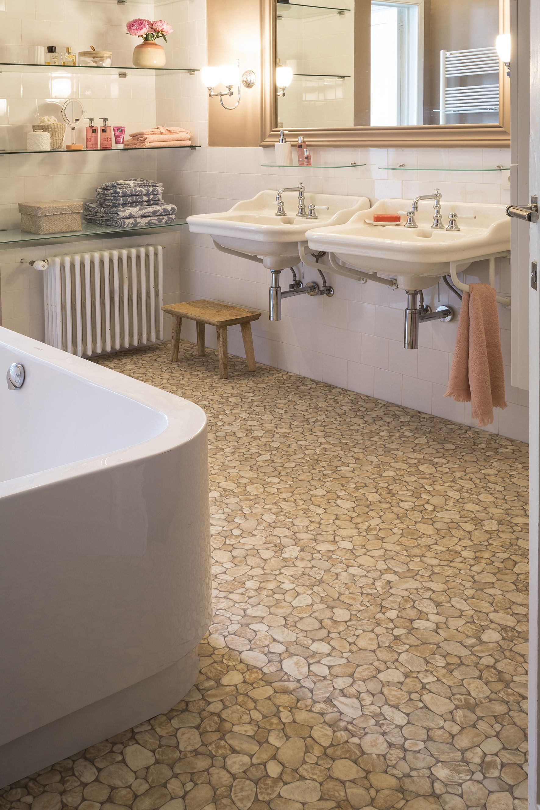 Welcome To Our Mikado Design A Complementing Pebble Look For Bathroom Settings