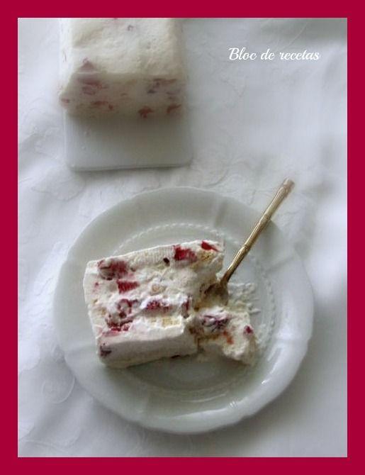Bloc de recetas: Tarta helada de merengue con fresas