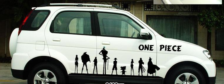 Free Shipping Cartoon Car Full Stickers Reflective ONE PIECE - Anime car body sticker