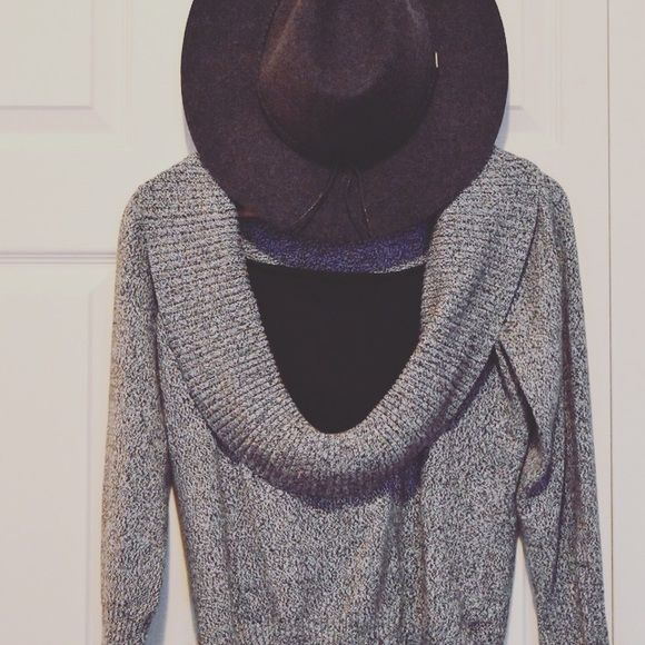 Charcoal Gray Cowl-neck Sweater Warm, charcoal cowl-neck sweater ...