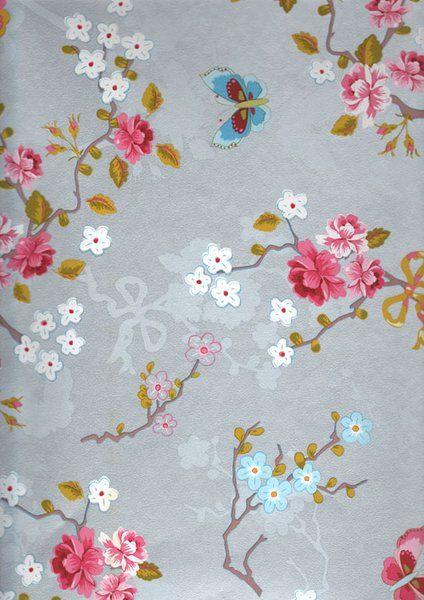 Eijffinger Pip tapetti - Chinese rose silver 386033 - Seinäruusu - Verkkokauppa