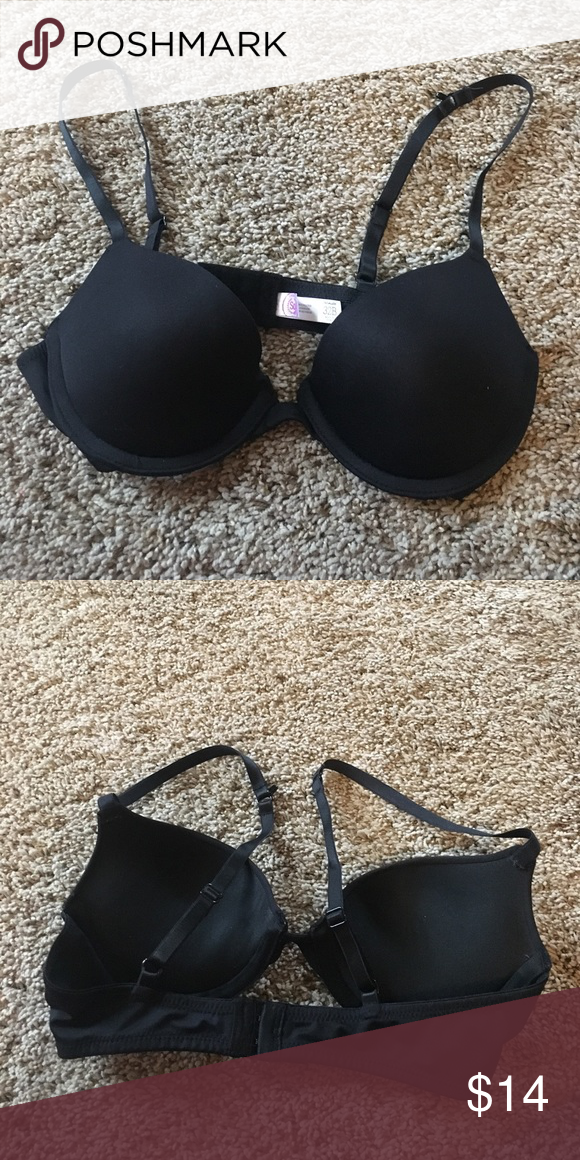 Black push up bra Excellent, like new condition. Has push up padding and hook on back to convert straps for racer back option. so Intimates & Sleepwear Bras