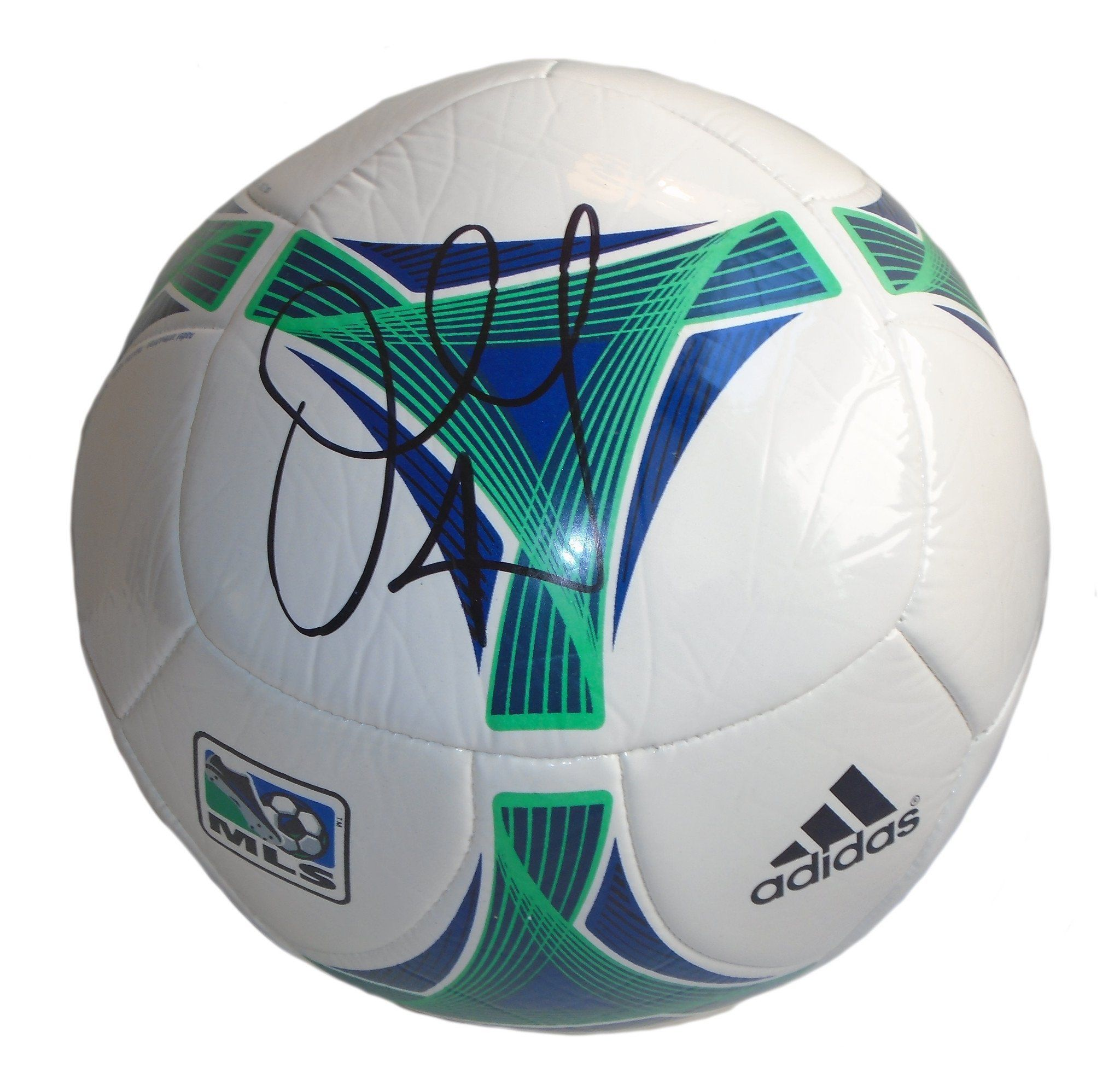 24a804e9bad Omar Gonzalez Autographed White Adidas MLS Soccer Ball
