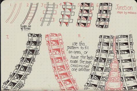 Free Zentangle How To Patterns | New tangle pattern Junction & tutorial for Viva Las Vegastamps! design ...