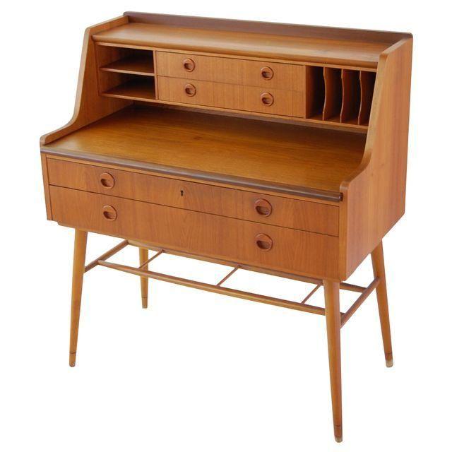 Danish Modern Secretary Desk Modern Secretary Desk Secretary Desks Mid Century Modern Furniture