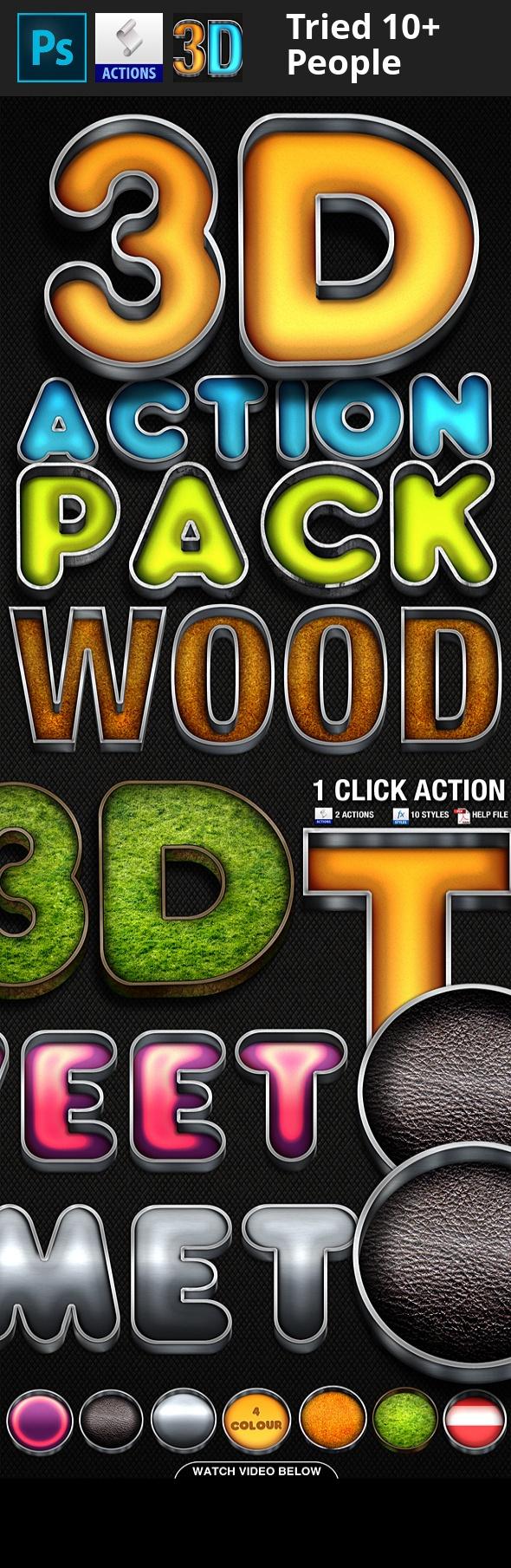3D Action Pack 2 Greenscreen, Screen printing designs