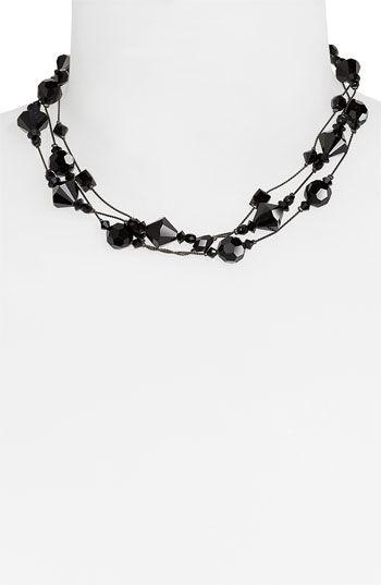 Dabby Reid Ltd. Three Strand Semiprecious & Crystal Necklace   Nordstrom - StyleSays