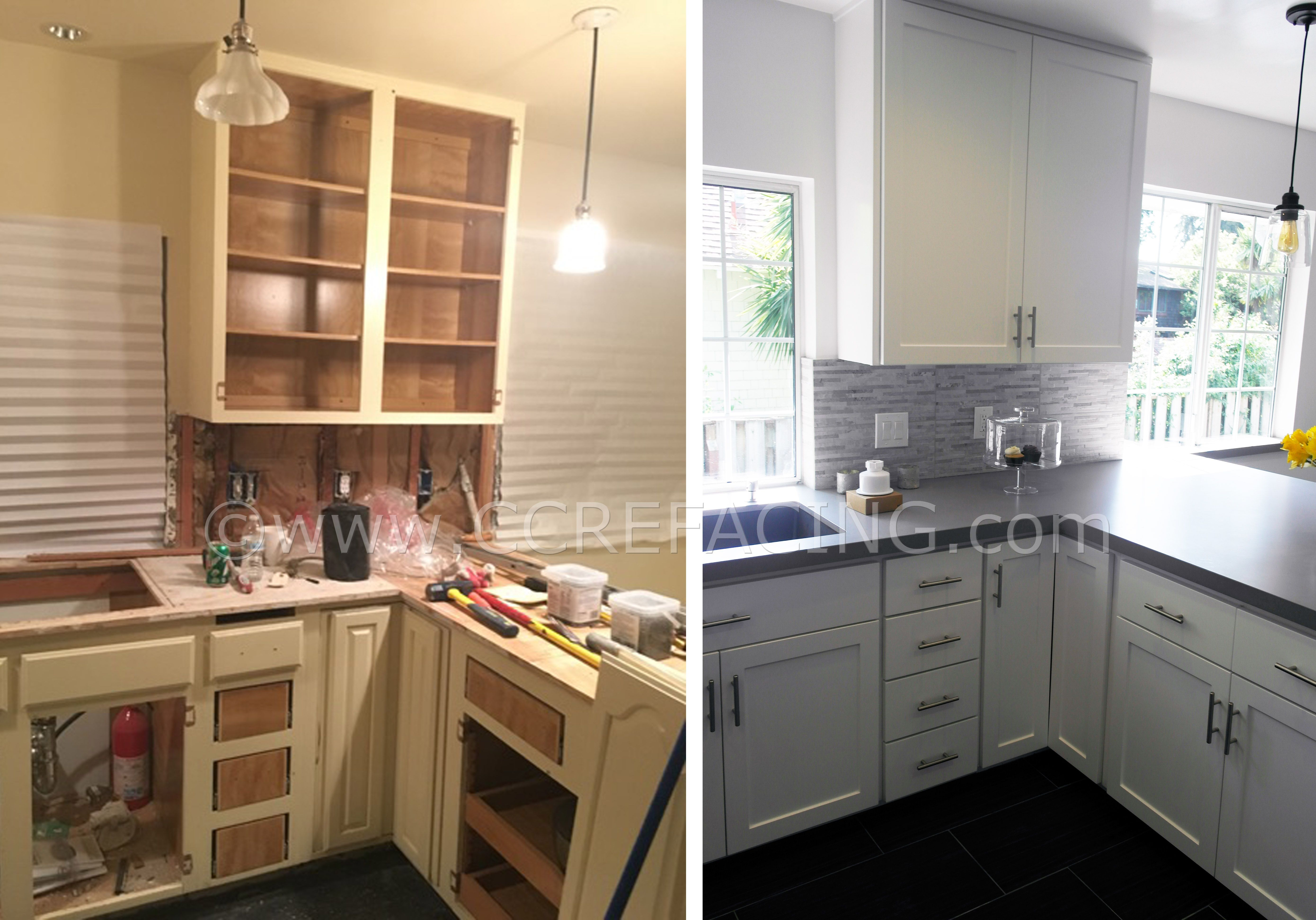 Oakland Cabinet Refacing With White Shaker Doors Cabinet Refacing Cabinet Custom Cabinets