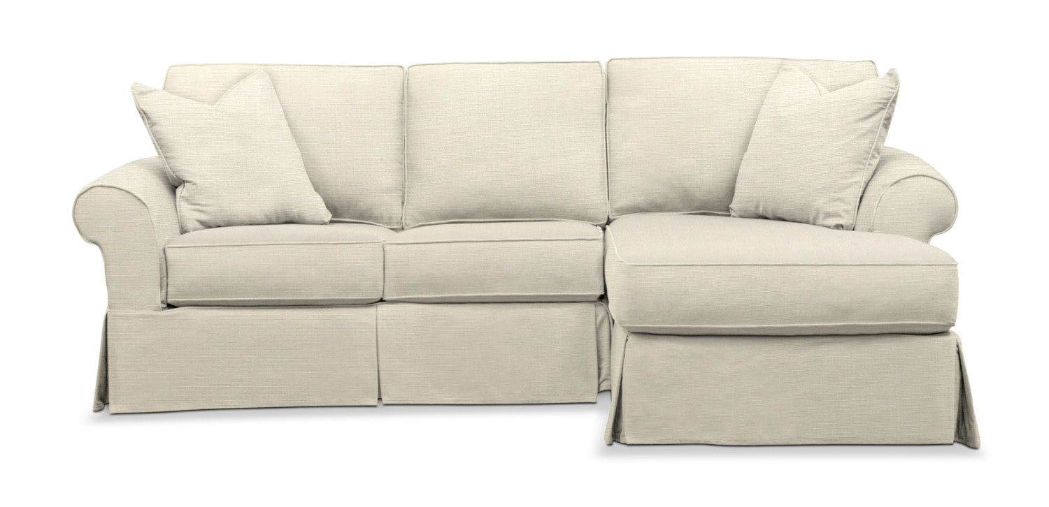 Fabulous Sawyer 2 Piece Slipcover Sectional Sofa With Left Facing Spiritservingveterans Wood Chair Design Ideas Spiritservingveteransorg