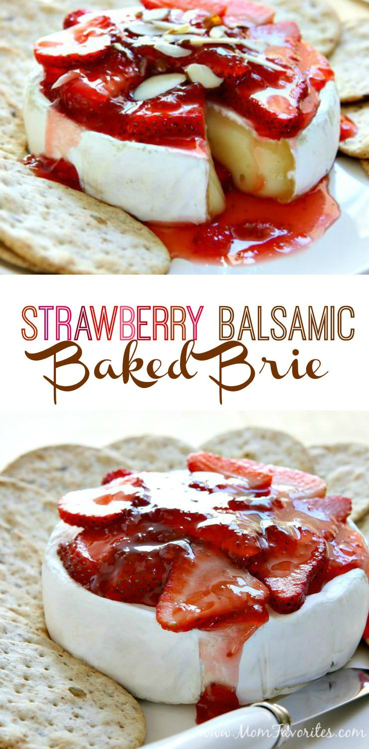 Strawberry Baked Brie Recipe Baked Brie Recipes Snacks Baked Brie
