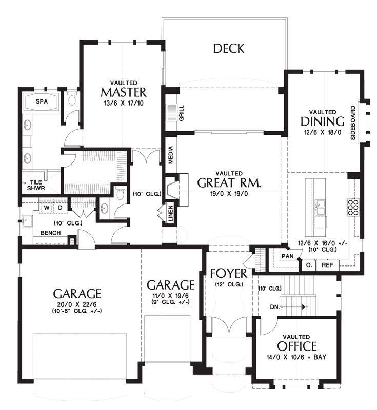 Craftsman House Plan With Finished Daylight Basement Basement