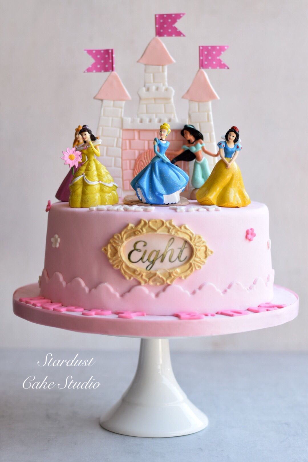 Disney Princess Castle Cake Castle Birthday Cakes Princess