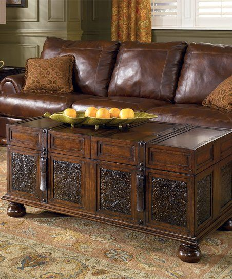 Signature Design by Ashley Dark Brown McKenna Coffee Table ...