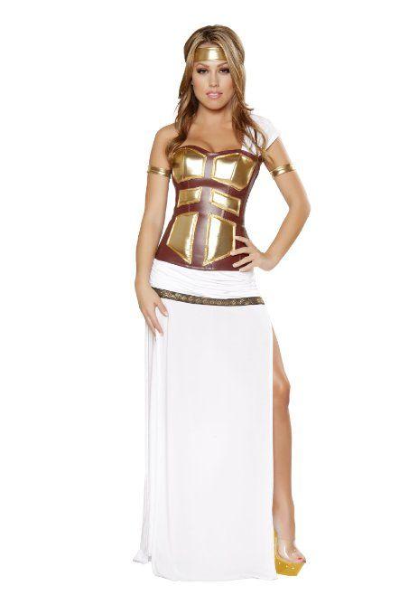 Roma Costume 4 Piece Greek Goddess As Shown, White, Large Costume