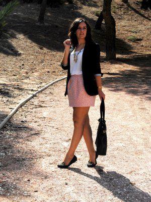 myvintagememoirs Outfit Otoño 2012. Combinar Falda Rosa