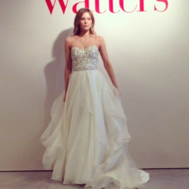 We Love The Sparkling Movement Of This Watters Gown