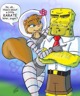 Sandy from spongebob naked-6321