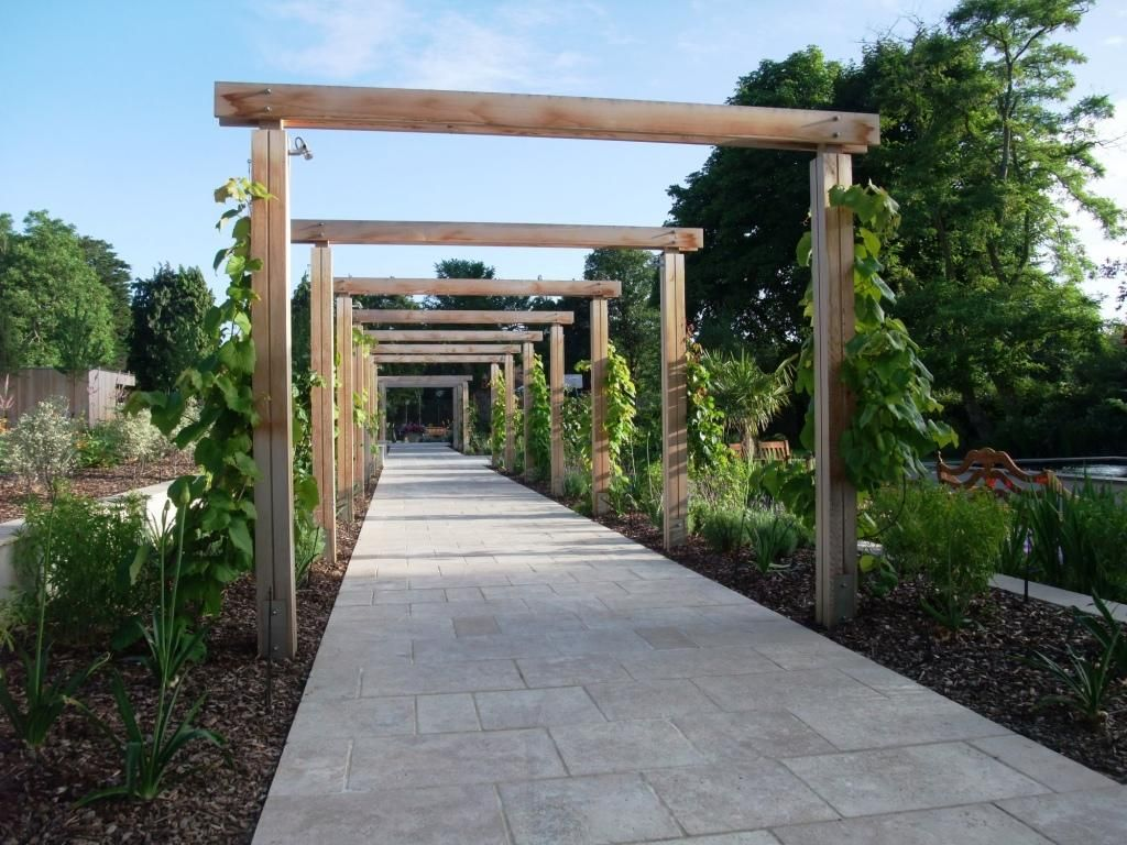 Bowles Wyer Pergola Sutton James Smith Garden Design Landscape Architect Private Garden