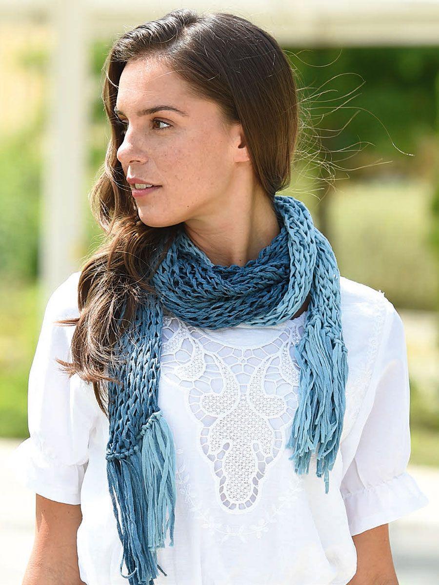 Strickanleitung für einen sommerlichen Fransen-Schal | Pinterest ...