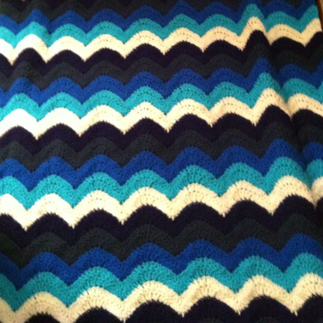 Ocean Waves Crochet Throw