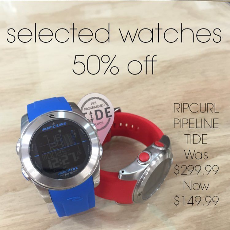 LAST TWO of the Ripcurl Pipeline Tide Watch. Bargain at $149.99 with 200 pre-programmed tide locations. #summer #surf #warrnambool #surfco3280 #shoplocal #watch #tidewatch #tide #local #ripcurlwatch #ripcurl by thesurfco