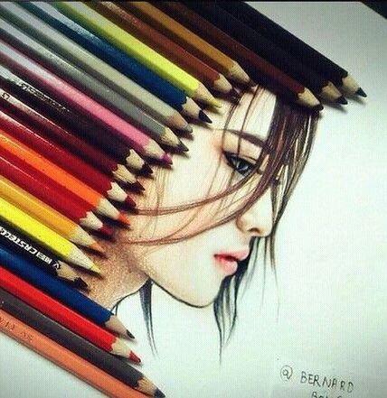 صور رسومات ملونه رسومات بنات صور مرسومه Instagram Art Drawings Art