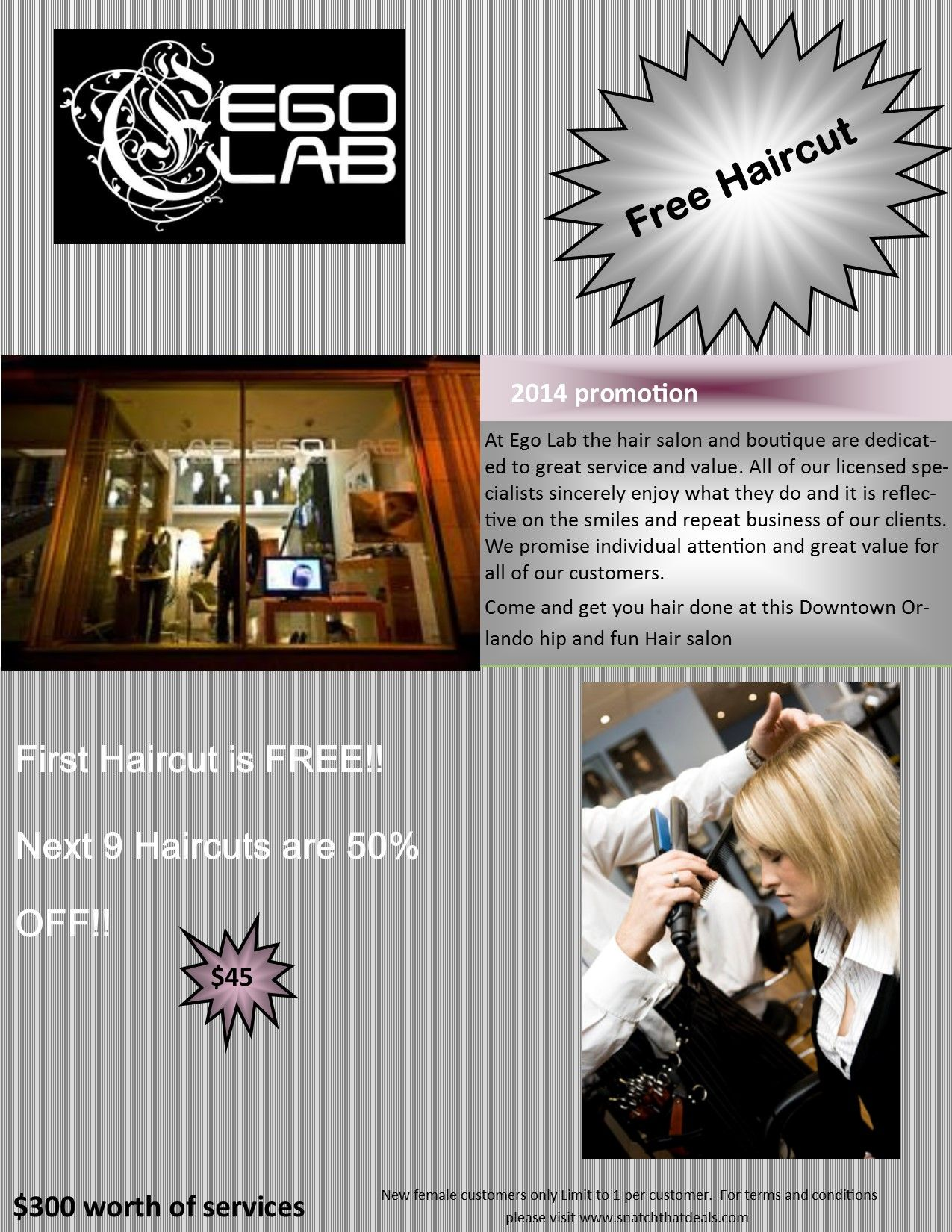 Salon But Promo Get A Free Haircut Wow By Buying A 20 Promo Card You Not Only