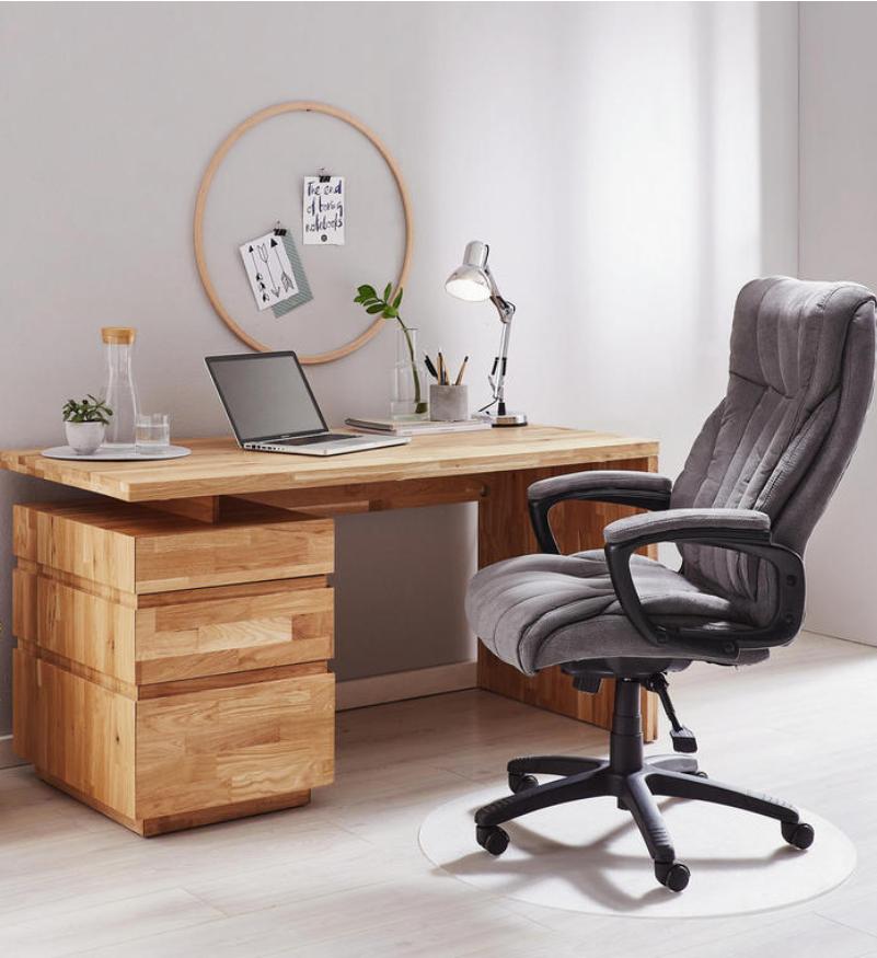 Schreibtisch Breit Echtholz Modern Design für Büro Arbeitszimmer