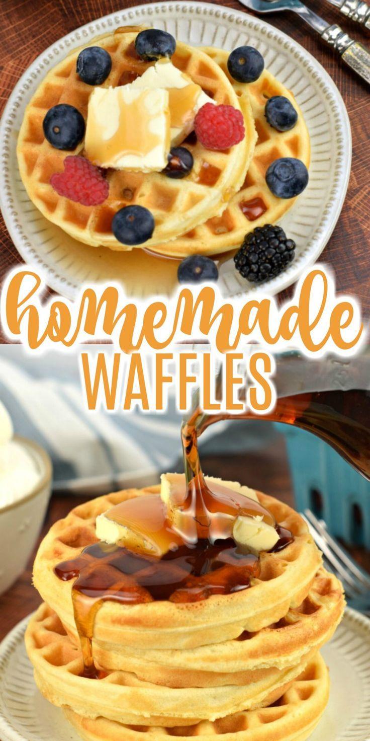 Easy homemade waffle mix recipe in 2020 homemade waffles