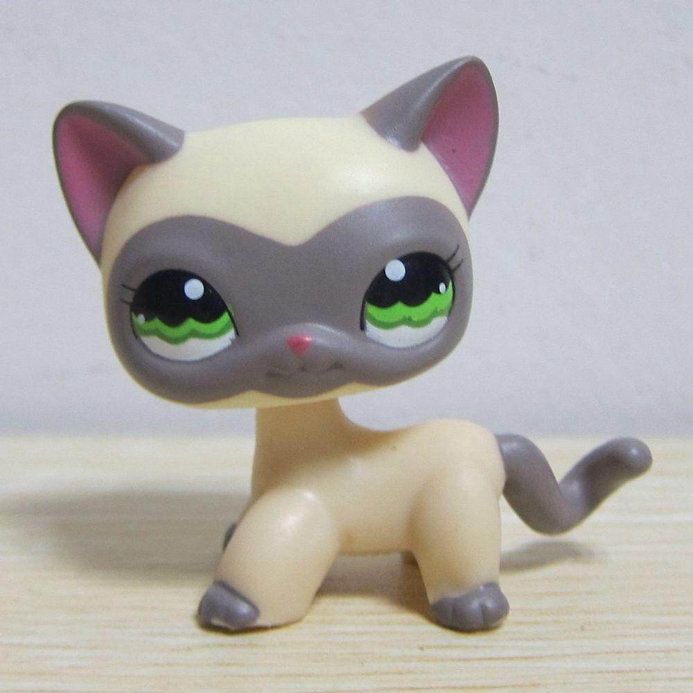 2pcs Littlest Pet Rare LPS #125 #5 Short Hair Cat Kitty Doll Children/'s Day Gift