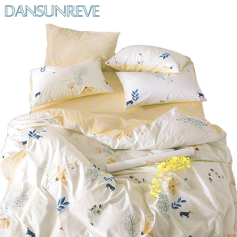 52 5 60 Queen Bedding Set Bedding Set Yellow Bed Sheet Decorative Pillow Case Cotton Print Bedding Sets Yellow Bed Sheets Queen Bedding Sets Yellow Bedding