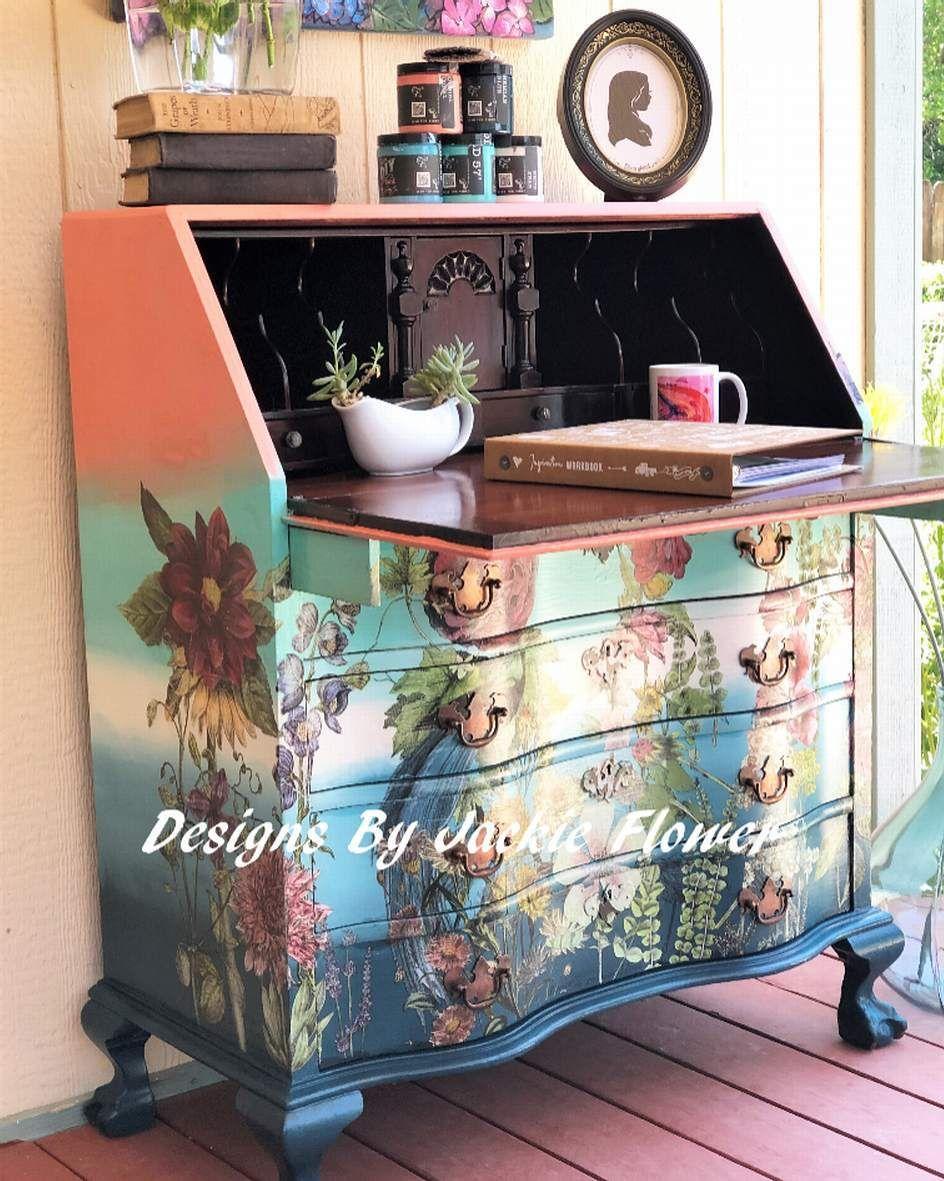 Secretary desk. Available. #diypaintco, #debisdesigndiary, #debibeard, #satietycreations,#abeautifullifefurnishings, #iodtransfers, #furniturepaintersuniteusa