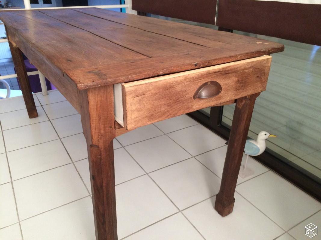 Rare table rustique de ferme Ameublement Sarthe   leboncoin.fr ...