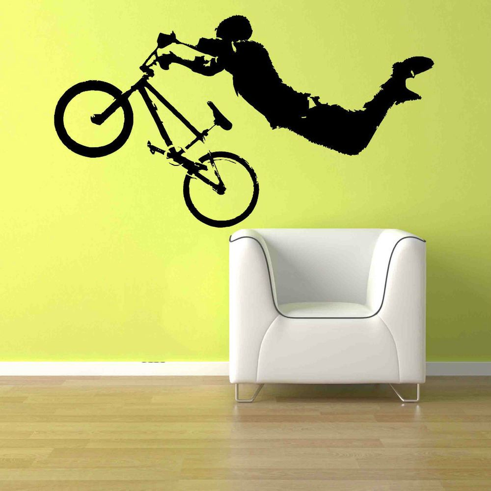 Giant BMX Bike Bicycle Sport Wall Art Decor Sticker Vinyl Decal Boy ...
