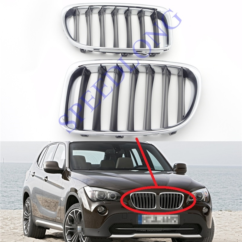 94.98$  Watch here - http://alirui.worldwells.pw/go.php?t=32747958765 - 2 Pcs/Pair Front grille with chrome frame for BMW X1 Series E84 2010-2012